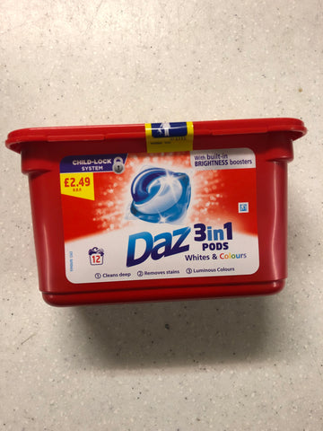 Daz 3 in 1 Pods 12 Wash