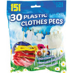 Cloth Pegs Plastic 30 Pack