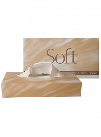Soft Large White Facial Tissues Box