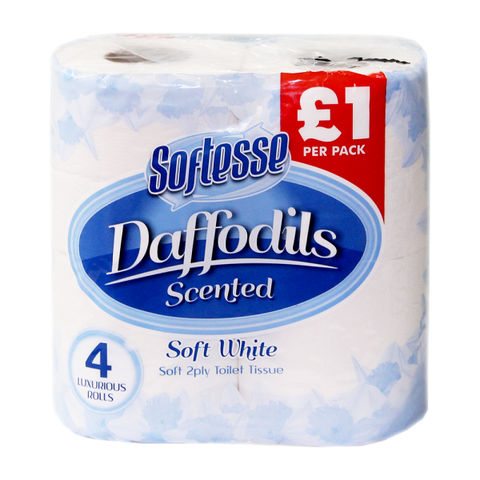 Daffodils Scented 2PLY Toilet Rolls 4 Pack PM£1
