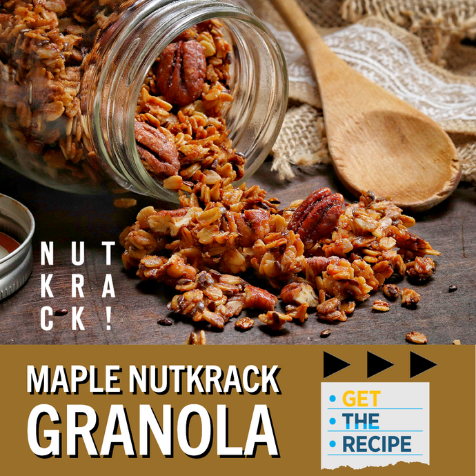 CANDIED PECAN RECIPE ALERT! Maple Nutkrack Granola