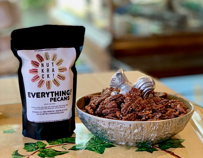 Nutkrack Launches Everything Seasoning Pecans to benefit the Goodman Community Center