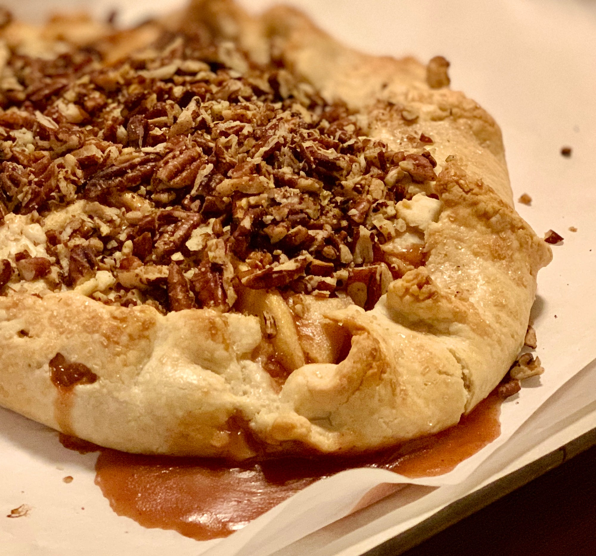 RECIPE: Salted Caramel Apple Galette with Nutkrack Candied Pecans
