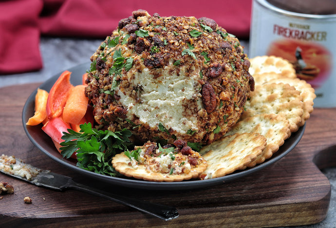 RECIPE: Smoky Cheese Ball with Nutkrack Candied Pecans