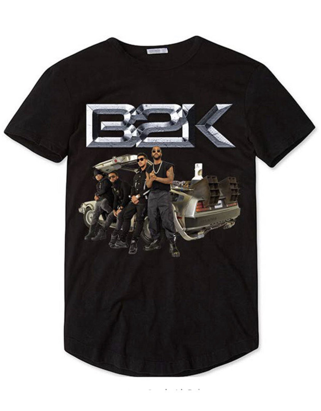 Limited Edition B2K Black T-Shirt - Band with Delorean