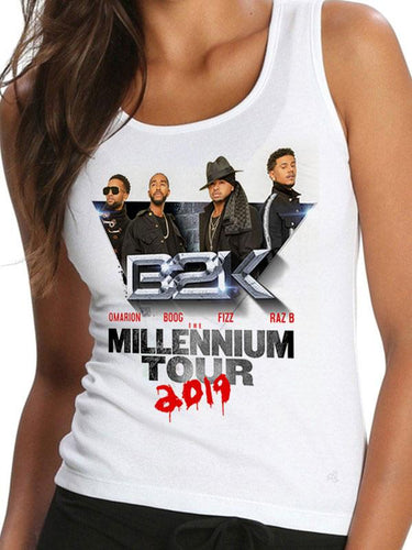 Limited Edition B2K Millennium Tour - Women's White Tank Top