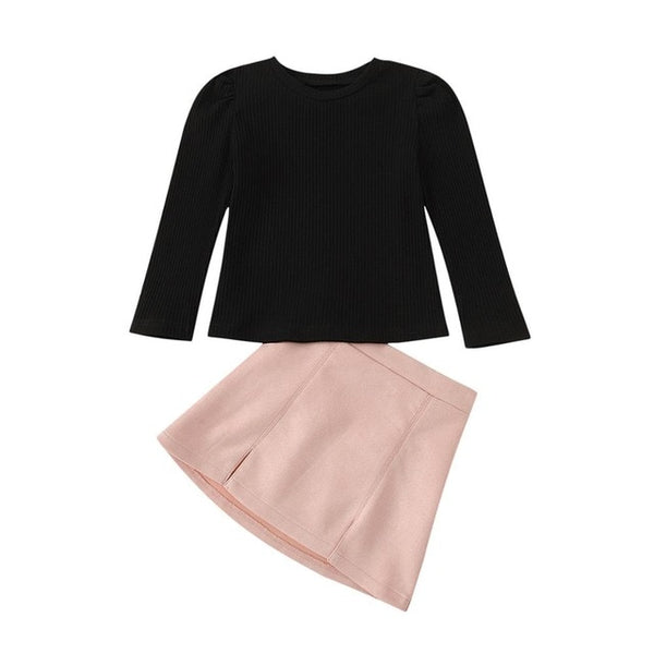 Sweater Top & PU Leather Skirt (Collection 2)