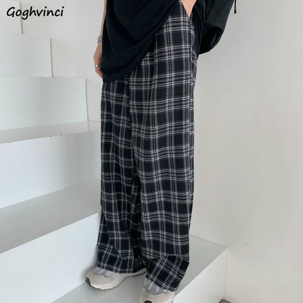Oversize Plaid Pants