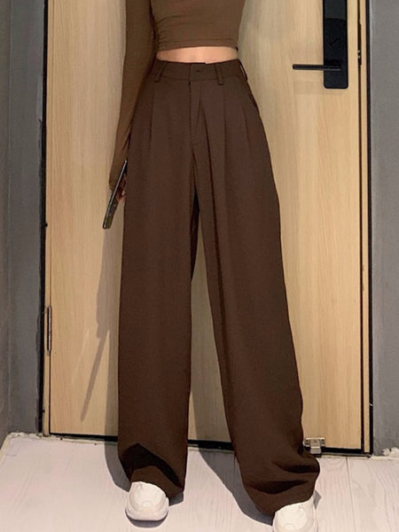 High Waist Wide Long Pants