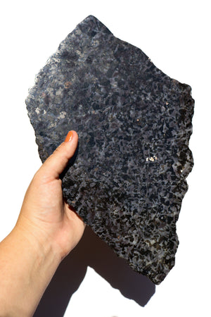 Load image into Gallery viewer, Merlinite Stone Slab with Stand - Anza Studio