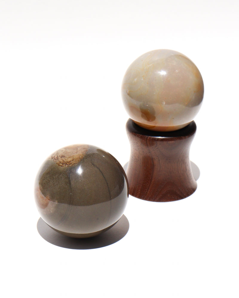 Load image into Gallery viewer, Large Desert Jasper Sphere Stones - Anza Studio