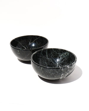Load image into Gallery viewer, Black Marble Bowl - Anza Studio