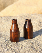 Indian Rosewood Bud Vases - Anza Studio