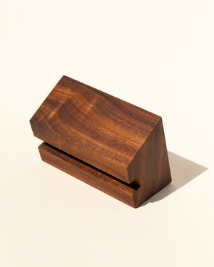 Walnut Slab Stand - Anza Studio
