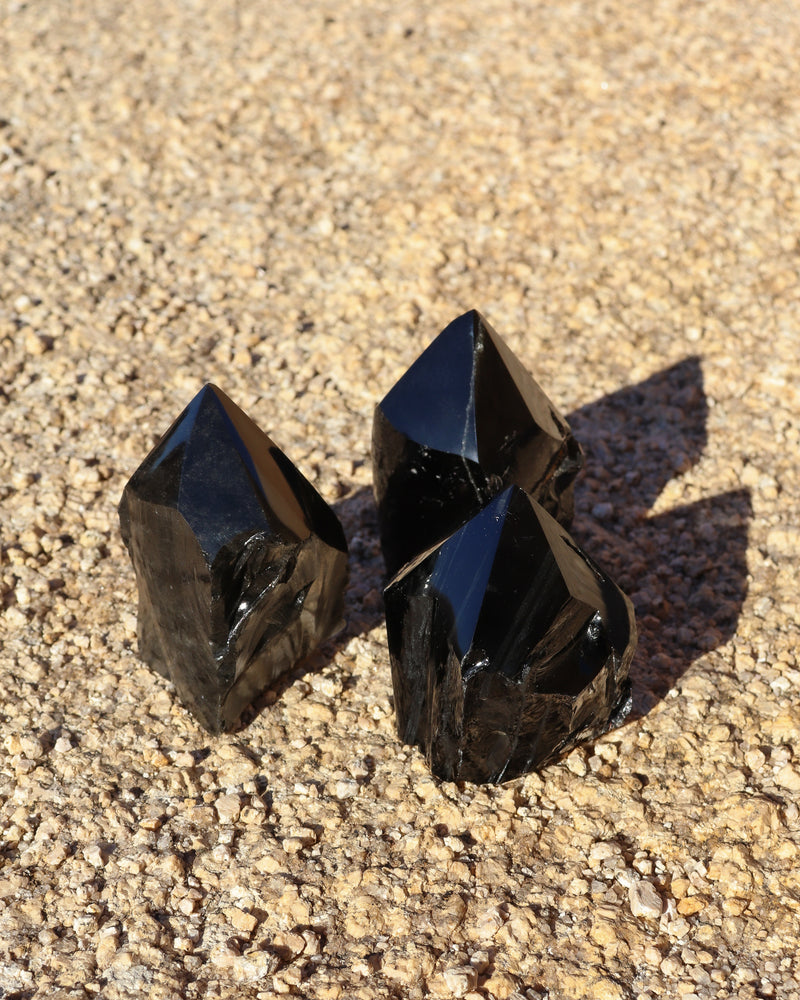 Obsidian Half-Polished Point - Anza Studio