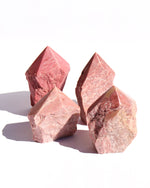 Pink Jasper Half-Polished Point - Anza Studio