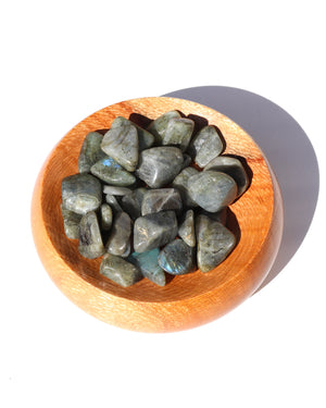 Load image into Gallery viewer, Peacock Blue Labradorite Tumbled Stones - Anza Studio