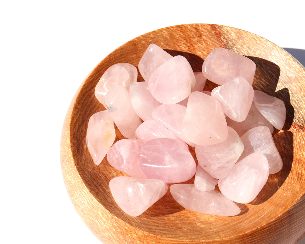Rose Quartz Tumbled Stones - Anza Studio