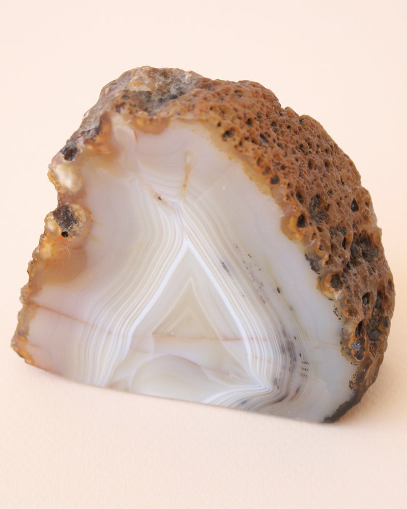 Agate Standing Polished Crystal - Anza Studio