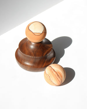 Load image into Gallery viewer, Banded Sandstone Spheres - Anza Studio