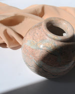 Light Peach Jasper Rotund Crystal Vase - Anza Studio