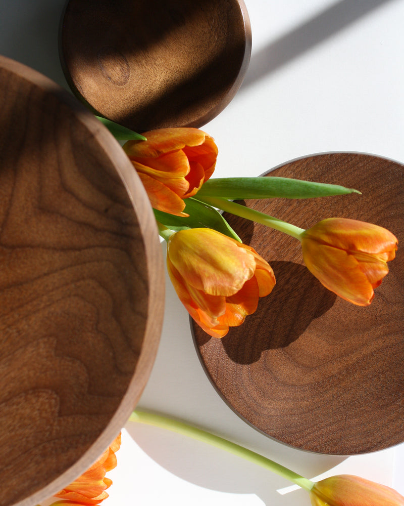 'Hiko' Walnut Wood Catchall - Anza Studio
