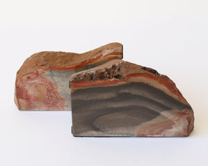 Load image into Gallery viewer, Desert Jasper Solid Bookends - Anza Studio