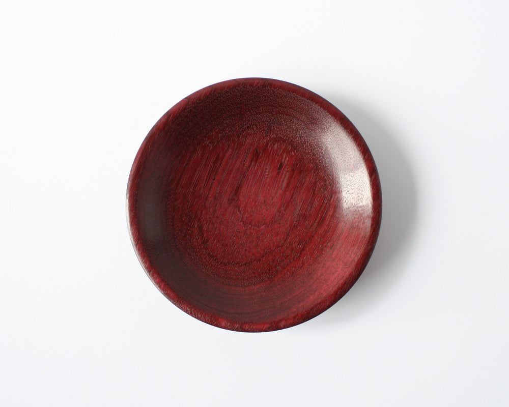 Load image into Gallery viewer, Hand-Made Purple Heart Wood Dish - Anza Studio