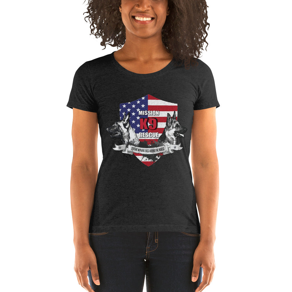 Mission K9 Rescue  Women's Short Sleeve T-shirt