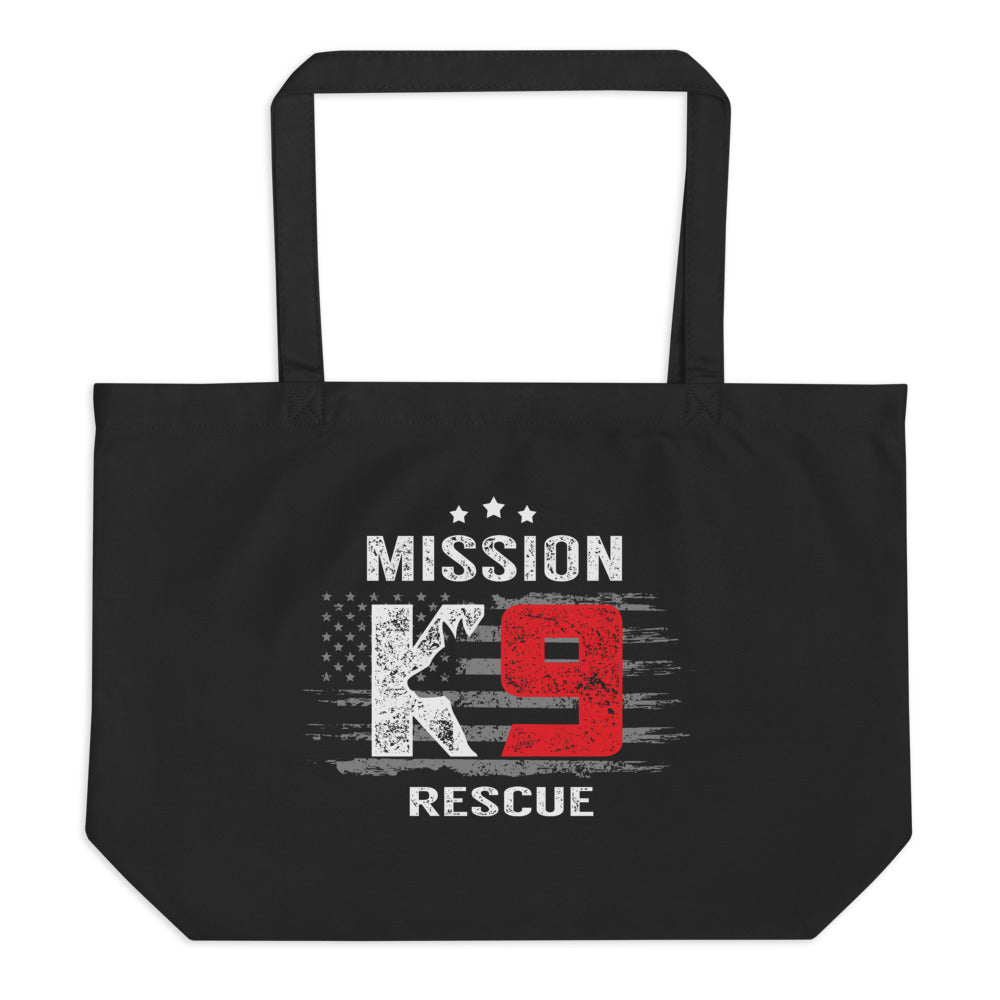 Mission K9 Large Organic Tote Bag