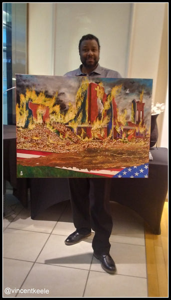 Black Wall Street Original Painting by Artist Vincent Keele