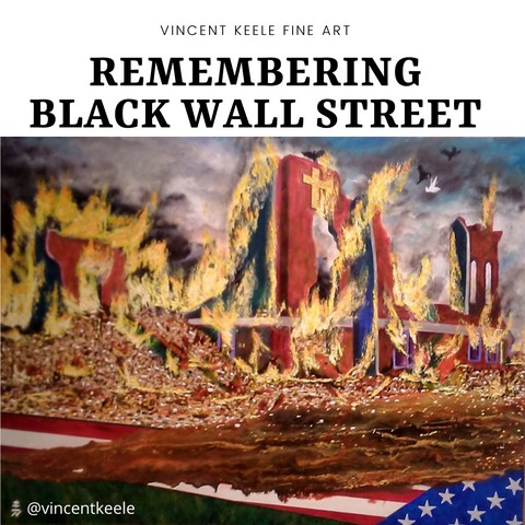 Black Wall Street Painting by Vincent Keele