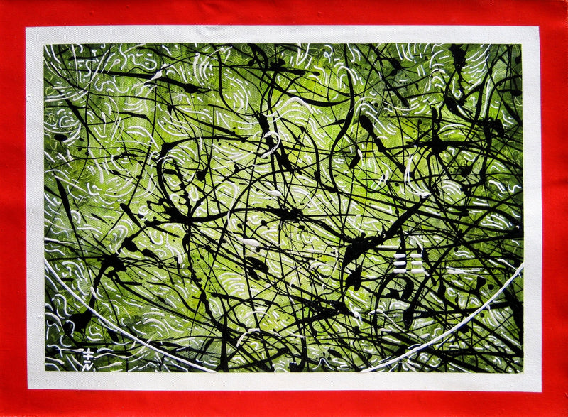 Black and Green Abstract Painting form Vincent Keele