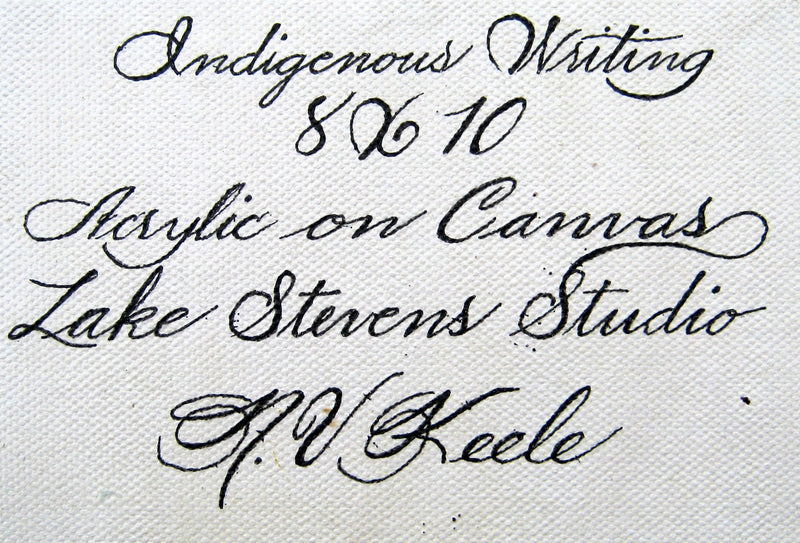 INDIGENOUS WRITING - 8X10