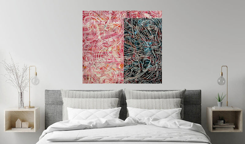 PINK AND BLUE - 48X48