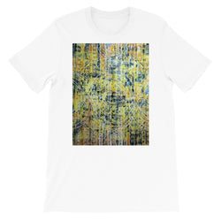 TEAL AND YELLOW UNISEX T-SHIRT