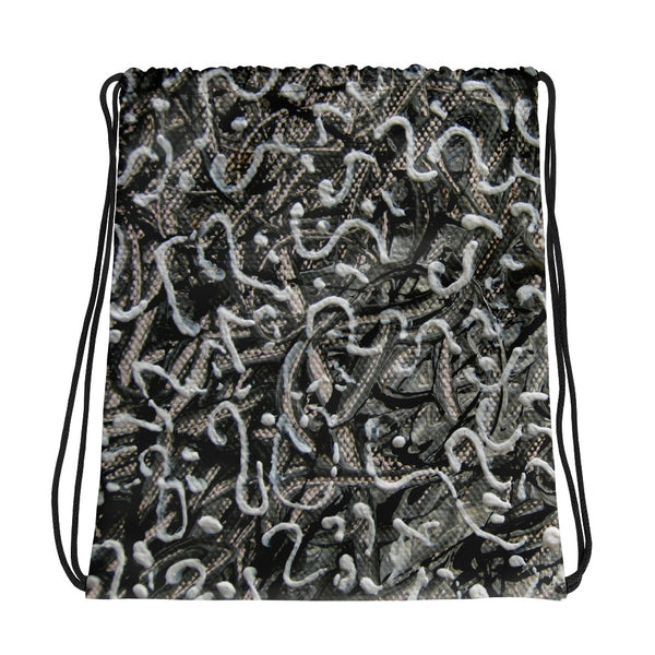 SHADES OF GREY DRAWSTRING BAG