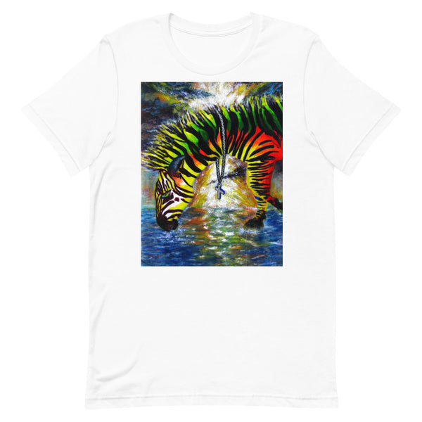 PRAYING ZEBRA UNISEX T-SHIRT
