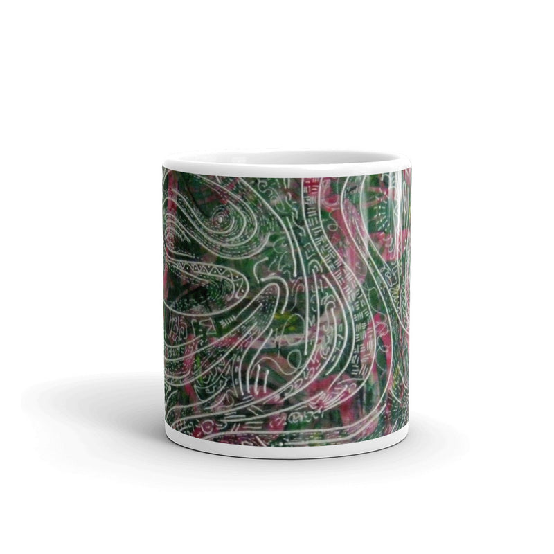 GREEN DRAGON ART MUG