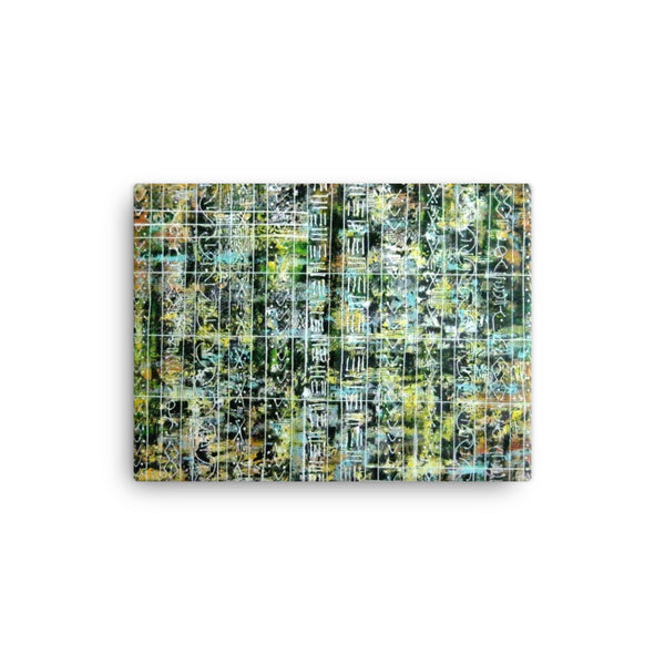 GREEN AND YELLOW CANVAS ART PRINT