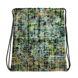 GREEN AND YELLOW DRAWSTRING BAG
