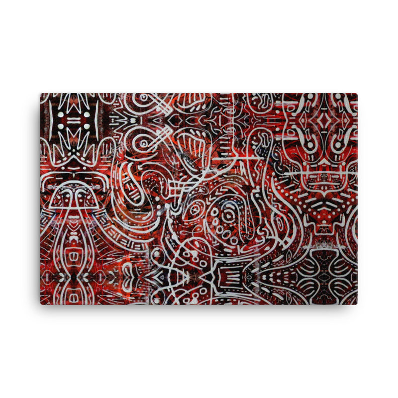 INDIGENOUS 23 CANVAS ART PRINT