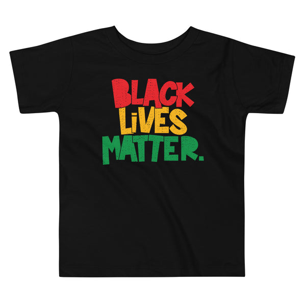 Black Lives Matter (period) Toddler Short Sleeve Tee