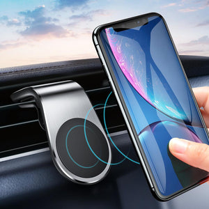 Magnetic Car Phone Holder (Air Vent Clip)