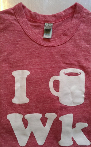Weekend printed Tee, Adult, Red