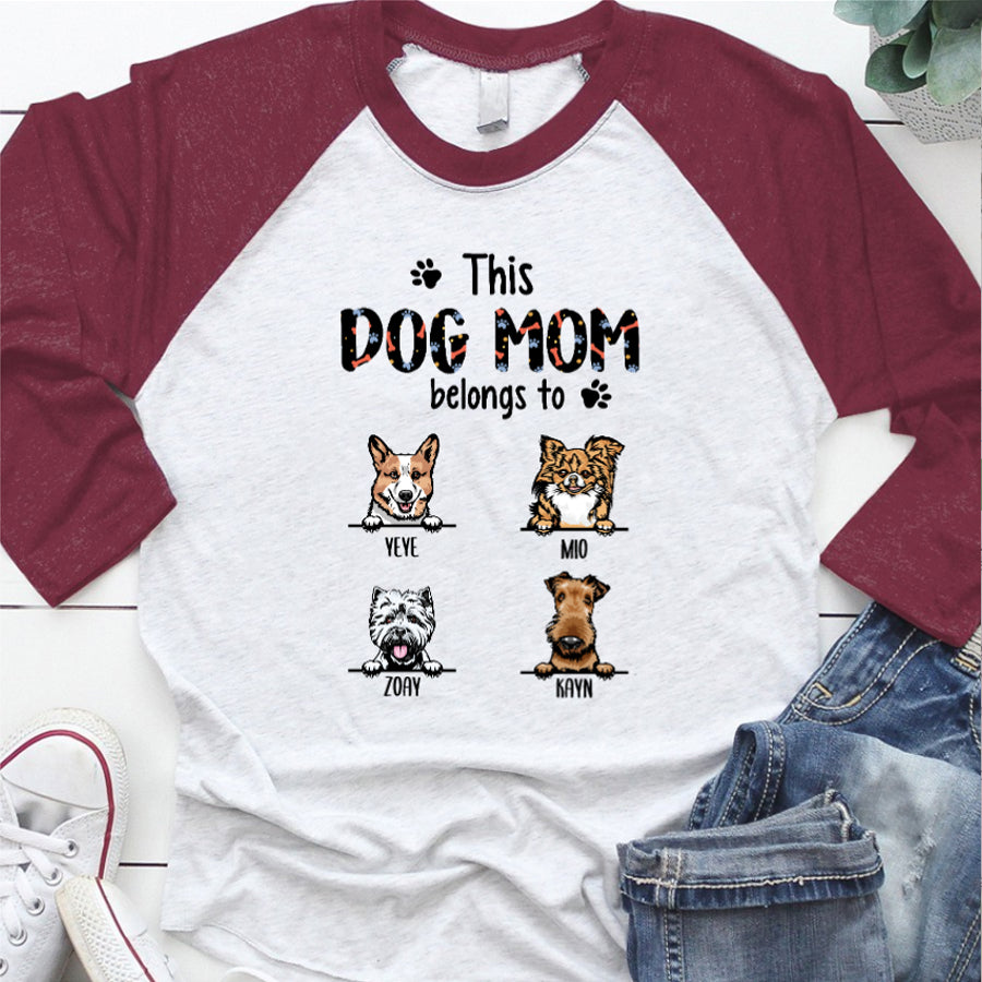 This Dog Dad - Mom belongs to - Personalized T-shirt Mug APDM104