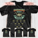 Grandpa's Biker Gang Retro Personalized names T-shirt APGP012