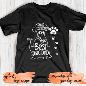 Happy Father's Day To The Best Dog Dad Personalized T-shirt mug for Dog lover APDM115