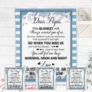 Dear Grandpa Papa This Blanket will remind you of us Personalized Blanket BLGP001