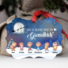 Life is better with grandkids - Christmas Kids - Benelux Ornament - ONFM005